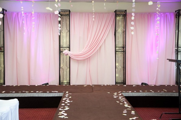 Iron pillars for Bridal Show
